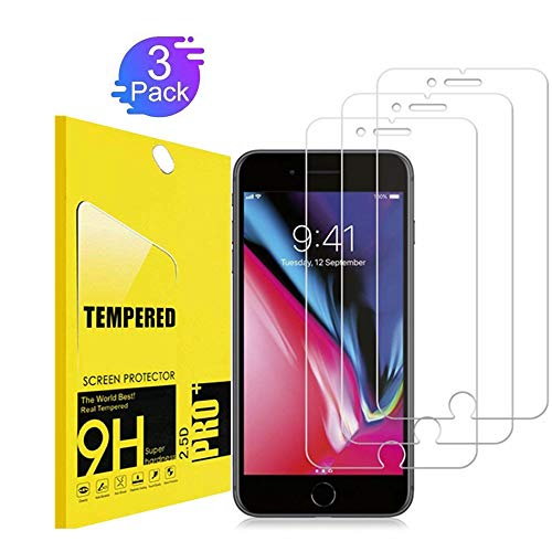 [3Pack] iPhone 8 Plus Screen Protector,KEEPXYZ [9H Hardness] [Anti-Scratches] [Anti-Fingerprint] Tempered Glass Screen Protector Compatible iPhone 8 Plus