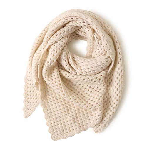 SUFLANG Luxurious Sjaal handgemaakte haak warme sjaal super zachte driehoek sjaal geschikt voor herfst en winter koud weer
