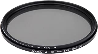 ND Fliter, GoolRC 82mm ND Fader Neutral Density Adjustable ND2 to ND400 Variable Filter compatible with Canon Nikon DSLR C...