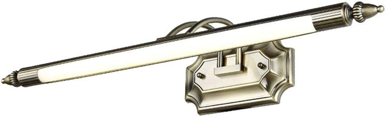 ERNTOGO American Style Retro LED-Spiegel-Frontleuchte im europischen Stil Badezimmer einfache Spiegel Schrank Lichter - 240 Verstellbarer Winkel (58CM5W) Eitelkeitslicht