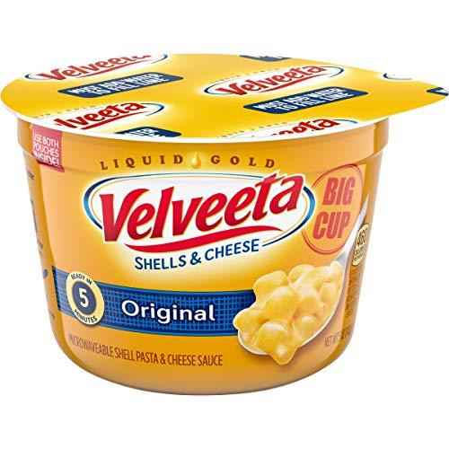 Velveeta Original Easy Mac Shells and Cheese Big Cup (8 Microwavable Cups)