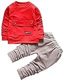 Crystallly Bambini del Cappotto Neonato Infantile Ragazza della Vestiti Maglione Giacca Stile Semplice Abbigliamento Invernale Festive Abiti Maglietta Felpa Tops Strisce Pantaloni Lunghi Vestiti Set