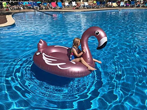 Fenicottero Gonfiabile e Galleggiante per Mare e Piscina. Bambini e adulti piscina gonfiabile Fenicottero. Gonfiabile piscina giocattolo Fenicottero di Integrity Co (oro rosa)