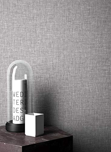 NEWROOM Landhaus Tapete grau Papiertapete Papier moderne Design Optik Tapete Einfarbig Unifarben inkl. Tapezier RatgeberNEWROOM Land
