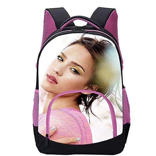 KKASD Jessica Alba Mochila impresa en 3D Mochilas de moda para adolescentes, adultos, mochilas escolares para niños 45x30x15cm Mochila para niños