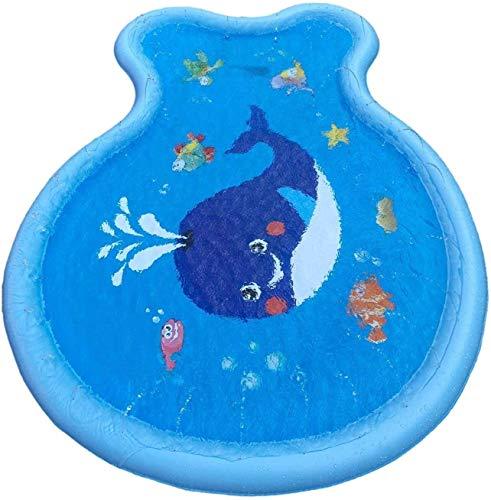 Splash Pad, Sprinkler voor Kinderen, 2021 Upgraded Summer Outdoor Water Toys Wading Pool Splash Pad voor Peuters Baby, Buiten Water Play Mat voor 1-12 jaar oude kinderen jongens meisjes stoer