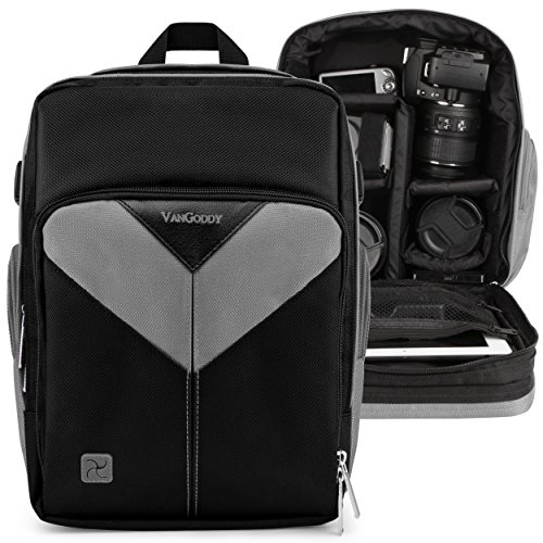 Camera and Lens Backpack Ash Gray for Panasonic Lumix FZ1000 II S1 S1R G95 G91 G90 G9 GX9 GX85 GH5s GH5 GX850 G85 GX8 G7 GH4