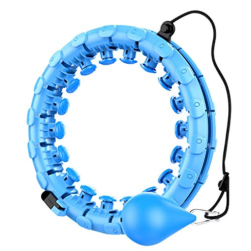Funyplus 2-in-1 Smart Hula Ring Reifen,Smart Fitness Reifen zur Gewichtsreduktion, Verstellbare Fitnessreifen mit 24 Abschnitten