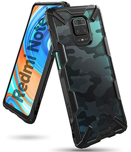 Ringke Fusion-X Diseñado para Funda Xiaomi Redmi Note 9 Pro (2020), Carcasa Redmi Note 9S, Parachoque Resistente Impactos Funda Redmi Note 9S / Redmi Note 9 Pro (6.67 Pulgadas) - Camo Black