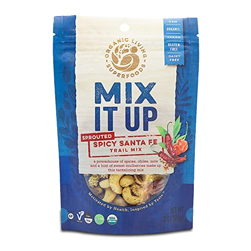 Organic Raw Sprouted Spicy 'Santa Fe' Trail Mix (6-pack)