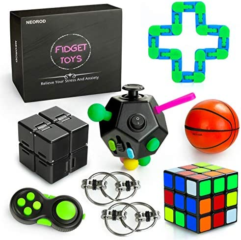 8 Pcs Sensory Fidget Toys Set for Kids Adults Girls Stress Reducer Anxiety Relief Toys for Focus product image