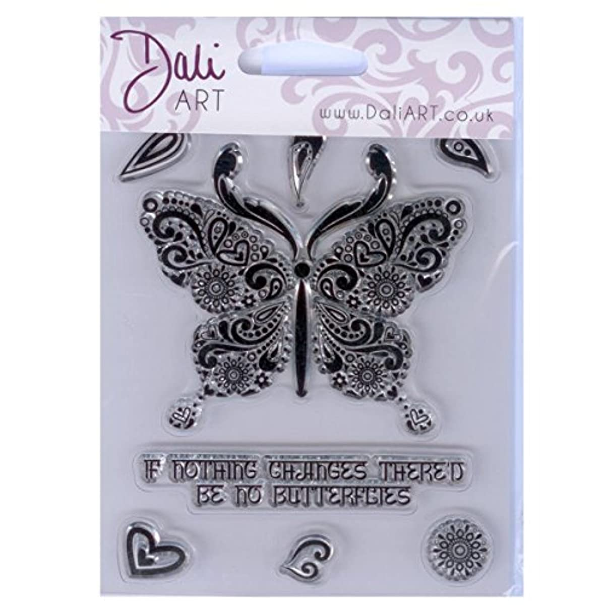 Dali Art A6 Clear Rubber Stamp - Indian Butterfly