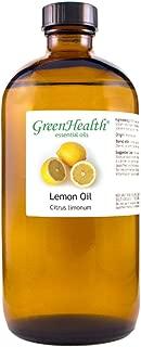GreenHealth Lemon – 100% Pure Essential Oil 16 fl oz (473 ml) Glass Bottle