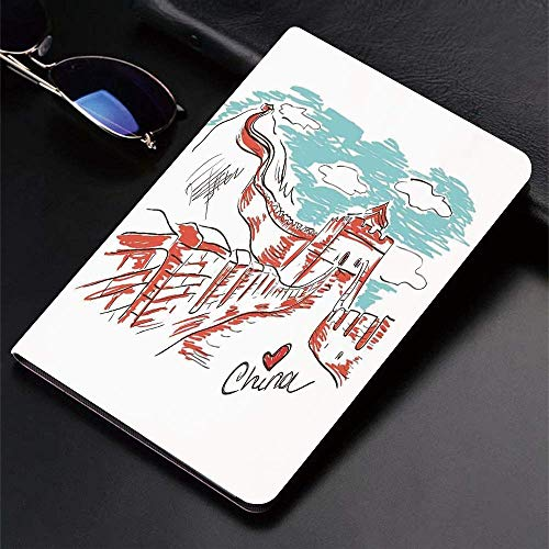Case for iPad (9.7-Inch, 2018/2017 Model, 6th/5th Generation)Ultra Slim Lightweight Smart Cover,Great Wall of China,Oriental Colorful Tourist Hand Drawn Chinese Travel Art,Smart Covers Auto Wake/Sleep