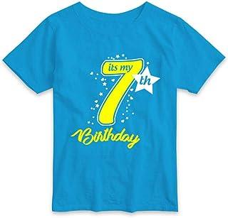 RAINBOWTEES Birthday Celebration,7th Birthday,Age 7 Years t-Shirts for Baby-Kids