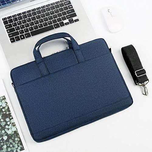 Práctico Bolso portátil 13 14 15.6 Pulgadas Funda Protectora de Manga Protectora Hombro portátil Caja de Transporte para MacBook Air (Color : Navy Blue, Size : 14-Inch)