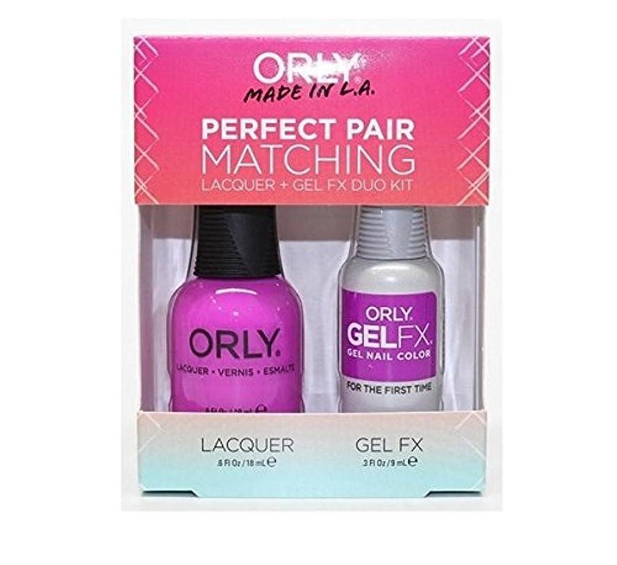 闘争逆フィードバックOrly Lacquer + Gel FX - Perfect Pair Matching DUO Kit - For The First Time