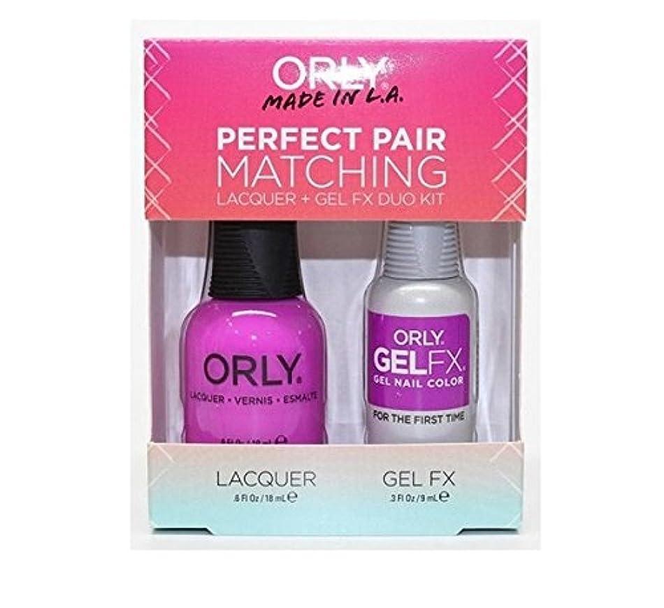 ジーンズ代替案高価なOrly Lacquer + Gel FX - Perfect Pair Matching DUO Kit - For The First Time