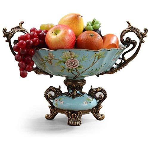 NXYJD Obstschale Antike Wohnzimmer Keramik Praktische Obstgericht Kaffeetisch Hauptdekoration Obstgericht