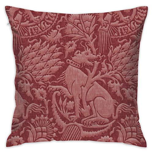akingstore - Colcha de algodón suave de Damasco Merlot_4391 para sofá o cama de coche de 18 x 18 pulgadas