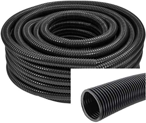 SPARES2GO 20mm Flexible Corrugated Water Butt Extension Overflow Connector Hose Pipe (5 Metre)