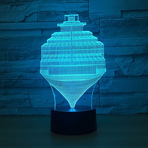 Nachtlicht Für Kinder Gyroskop Led Nachtlicht 3D Optische Täuschung 16 Farben Ändern Beleuchtung Nachttischlampe Geburtstag Weihnachten Erstaunliche Geschenke Für Kinder
