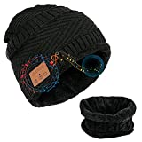 Lefuyan Bluetooth Beanie-Gifts para Hombres Sombrero Bluetooth con Parlantes Bluetooth, Sombrero Bobble con Auriculares Inalámbricos