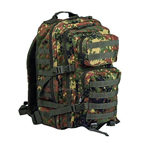 Camouflage Militaire Armee Sac e dos US assault pack 36L MOLLE Flecktarn