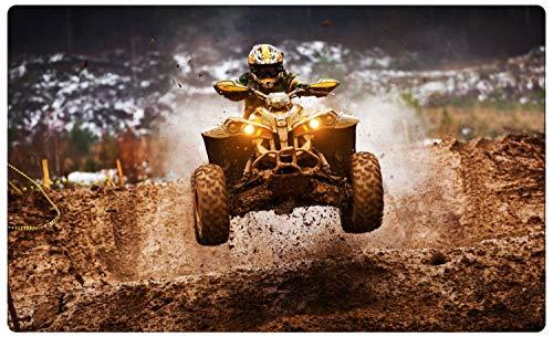 Quad Racing Rennen Dirt Wandtattoo Wandsticker Wandaufkleber R1821 Größe 70 cm x 110 cm