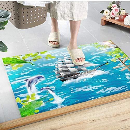 ShiyueNB geometrische moderne grote tapijten voor woonkamer hal wooncultuur slaapkamer nacht tapijten kinderen werkkamer antislip bodem 60CMx90CM Slijtloos zeilen.
