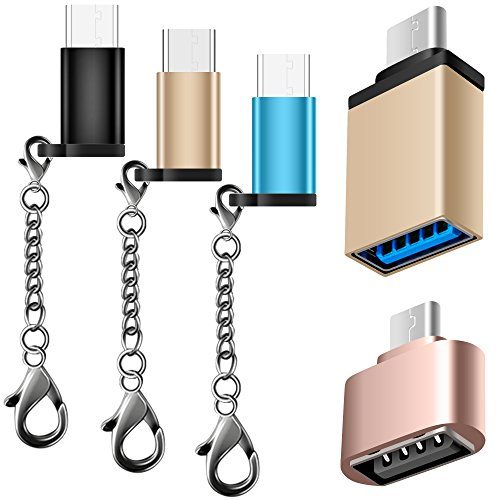 5 Adattatori Tipo-C, AFUNTA USB-C (Maschio) a Micro USB, USB-C a USB 3.0 (Femmina), Micro USB 2.0 OTG Cavo, Connettore Convertitore C Tipo Caricabatteria rapido per Samsung S8 Nuovo Macbook Pixel