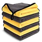 Product Image of the MYH Microfiber Cleaning Cloth for Cars, Microfiber Towels Strong Absorption Wash Cloth for Home, Kitchen, Car, Window (16'' x 16'', 6-Pack)