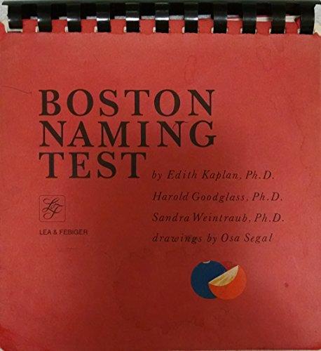Boston Naming Test by Edith Kaplan (2001-01-15)