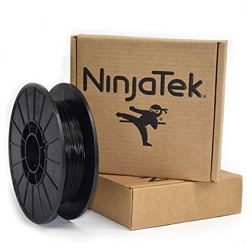 NinjaTek 3DNF01117505 NinjaTek NinjaFlex TPU Filament, 1.75mm, TPE.5kg, Midnight (Black) (Pack of 1)