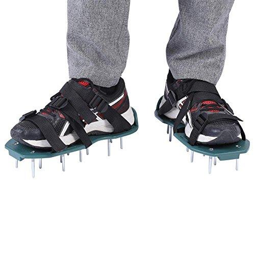 Rasenlüfter Schuhe,4 Verstellbare Riemen Rasenlüfter Schuhe Nagelschuhe Rasenbelüfter Sandalen Nagelschuh Rasenlüfter(4 Träger)