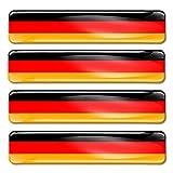 SkinoEu® 4 x Aufkleber 3D Gel Silikon Stickers Germany Deutschland Flagge Fahne Auto Moto Motorrad Fahrrad F 9