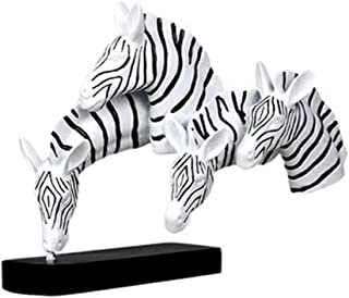 LULUD Zebra Head Crafts Ornaments Modern Resin Decoration Living Room TV Cabinet Office Soft Decorations