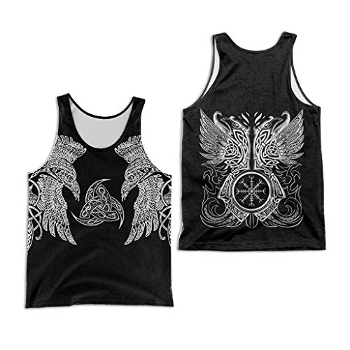 RUNNG Nordic Viking Rune Kompass Norse germanische Icelandic Pagan Magie Symbol T-Shirt, Viking T-Shirt, Viking Berserker, Nordic Mythology Warrior T-Shirt C XXXL