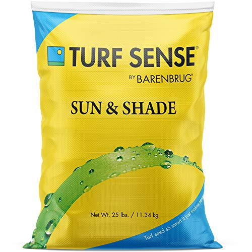 Barenbrug 25625 Turf Sense Grass Seed Grows in Areas of Sun and Partial Shade, 25 LB Bag
