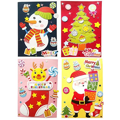 Card Making Kits DIY Handmade Greeting Card Kits for Kids, Christmas Card Folded Cards and Matching Envelopes Thank You Card Art Crafts Crafty Set Gifts for Girls Boys
