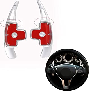 Angelguoguo Car Steering Wheel Paddle Shift Paddle Shifters for Mercedes Benz Mercedes Benz A B E GLA GLK SLK M GL Class (Doesn't Fit for AMG car) (Silver)