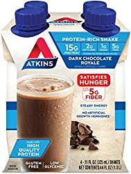 Atkins Dark Chocolate Royale Protein-Rich Shake. Rich and Creamy with Protein. Keto-Friendly and Glu