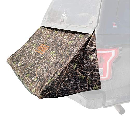 Footbox - A Truck Tent for Camping That extends The Bed of a Truck with a Topper (Black, Mid-Size)