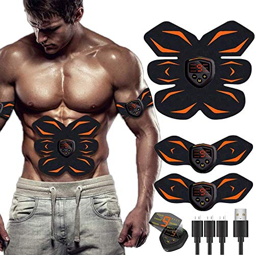 UMATE Abs Stimulator, Muscle Toner - Abs Stimulating Belt- Abdominal Toner- Training Device for Muscles- Wireless Portable to-Go Gym Device- Muscle Sculpting at Home- Fitness Equipment, Black