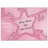 Trendige Freundes Grußkarte mit Stern zur Jugendweihe für Mädchen: Alles Gute zur Jugendweihe • lustige Grußkarte mit Umschlag, hochwertig und schön