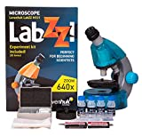 Bright microscope for an inquisitive child, available in green, blue, red, purple and gray colors Monocular head; 40–640x magnification power; revolving nosepiece - 3 objectives Sturdy and lightweight plastic body of unusual shape Battery powered ill...