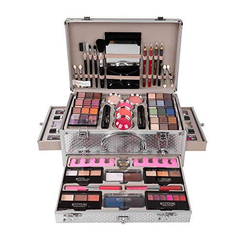 Cosmetics Schminkkoffer Make Up set mit Beauty Case - Kosmetik Schminke Koffer Schminkset Makeup Teenager Schmink set Pinsel Lippenstift Lidschatten Geschenkideen fur mädchen 1#
