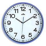 Orium-Orologio da Parete Silenzioso, Diametro: 30 cm Blu