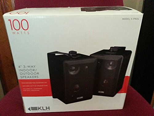 Buy KLH SPRO4 100 Watt Professional Indoor/Outdoor Speakers (Black, PRO 4)