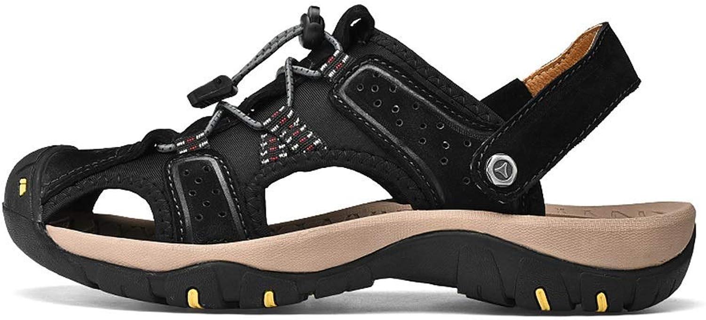 BAIF BAIF Mode Sandalen Elastic Lace Up Dekoration Closed Toe Outdoor Strand Schuhe Big Größe Herren Sommer Schuhe (Farbe  Schwarz, Größe  8,5 UK)  Neuheiten